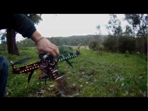 FPV quadcopter destroyed