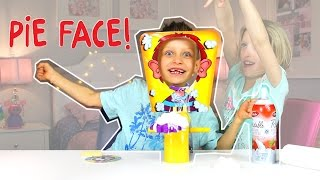 PIE FACE CHALLENGE!!! Messy Whipped Cream in the FACE!