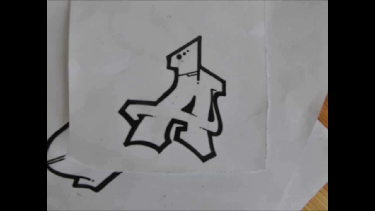 Graffiti alphabet N°1 (Part 1) - YouTube