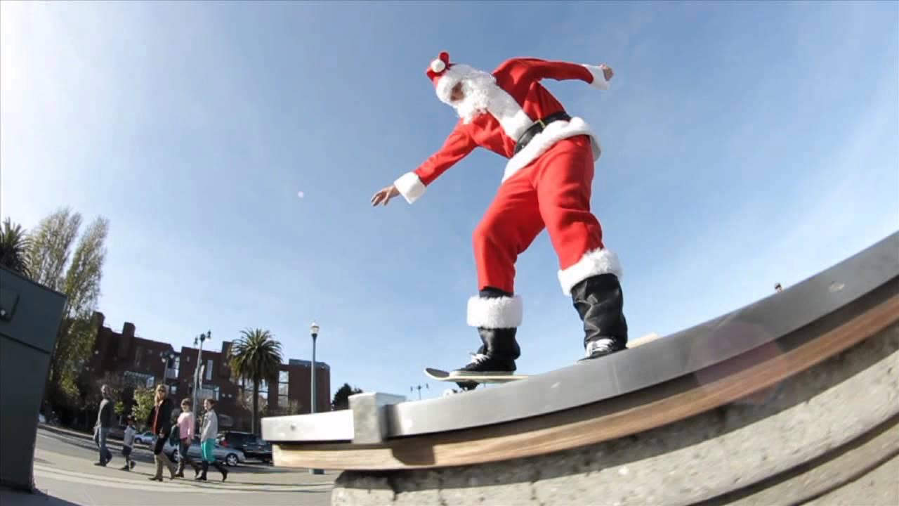 Santa Skateboarding Youtube Click Santa Claus Skateboard