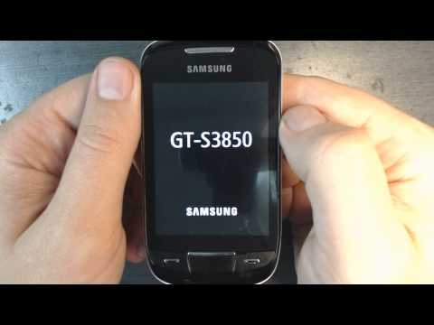 Samsung Corby 2 S3850 - How To Reset - Como Restablecer Datos De Fabrica video