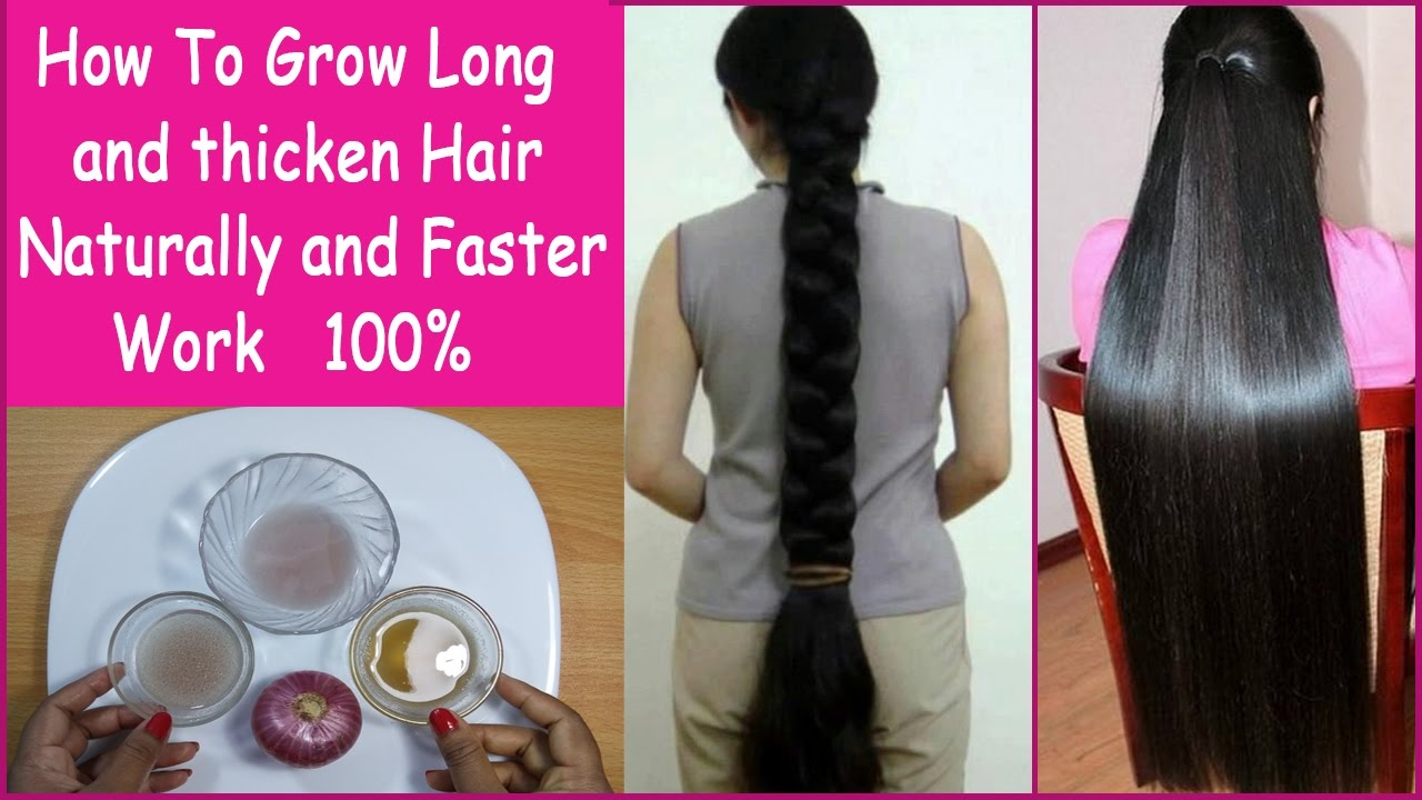 How To Make Your Hair Grow Longer and Thicker