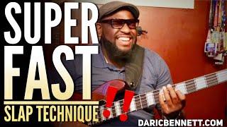 SUPER FAST SLAP BASS TECHNIQUE!!! | Bass Guitar Tricks ~ Daric Bennett's Bass Lessons