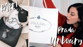 LUXURY UNBOXING - PRADA RE-EDITION 2005 NYLON SHOULDER BAG FIRST IMPRESSIONS // ELLEKAE