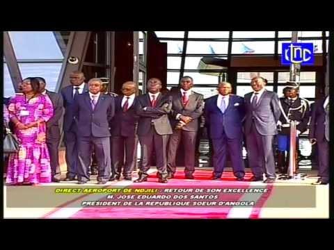 En direct de N'Djili, Le president Dos santos quitte le Congo