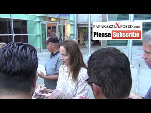 Frances O'Connor greets fans outside the ArcLight Theatre in Hollywood
