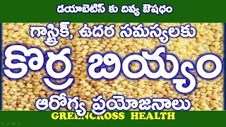 health tips in telugu|కొర్ర బియ్యం|health benefits of korra biyyam korralu|fox tail millet|