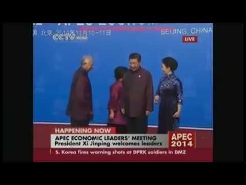 Najib kasi Rosmah malu di APEC BEIJING, 11 Nov 2014