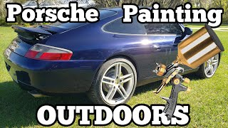 How to Perfectly Paint a Wrecked Porsche 911 Without a Paint Booth For Beginners