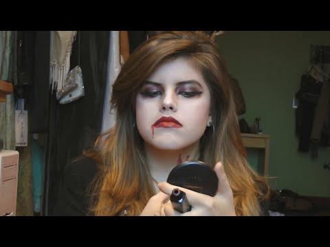 ♥Make + penteado VAMPIRA - Halloween - Dia das Bruxas