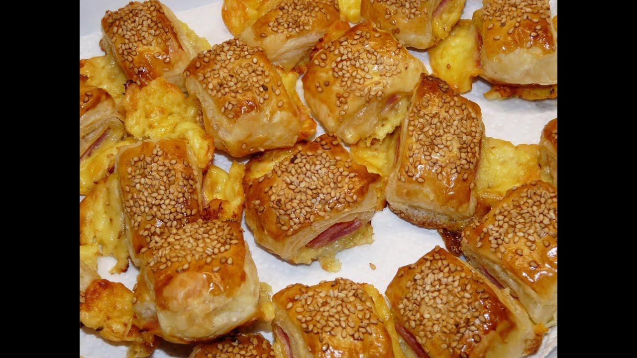 Cocina f cil saladitos de hojaldre de jam n y queso for Cocinar facil
