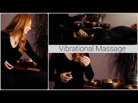 Vibrational Massage Tutorial | ASMR, Crystals, Bowls, White Noise