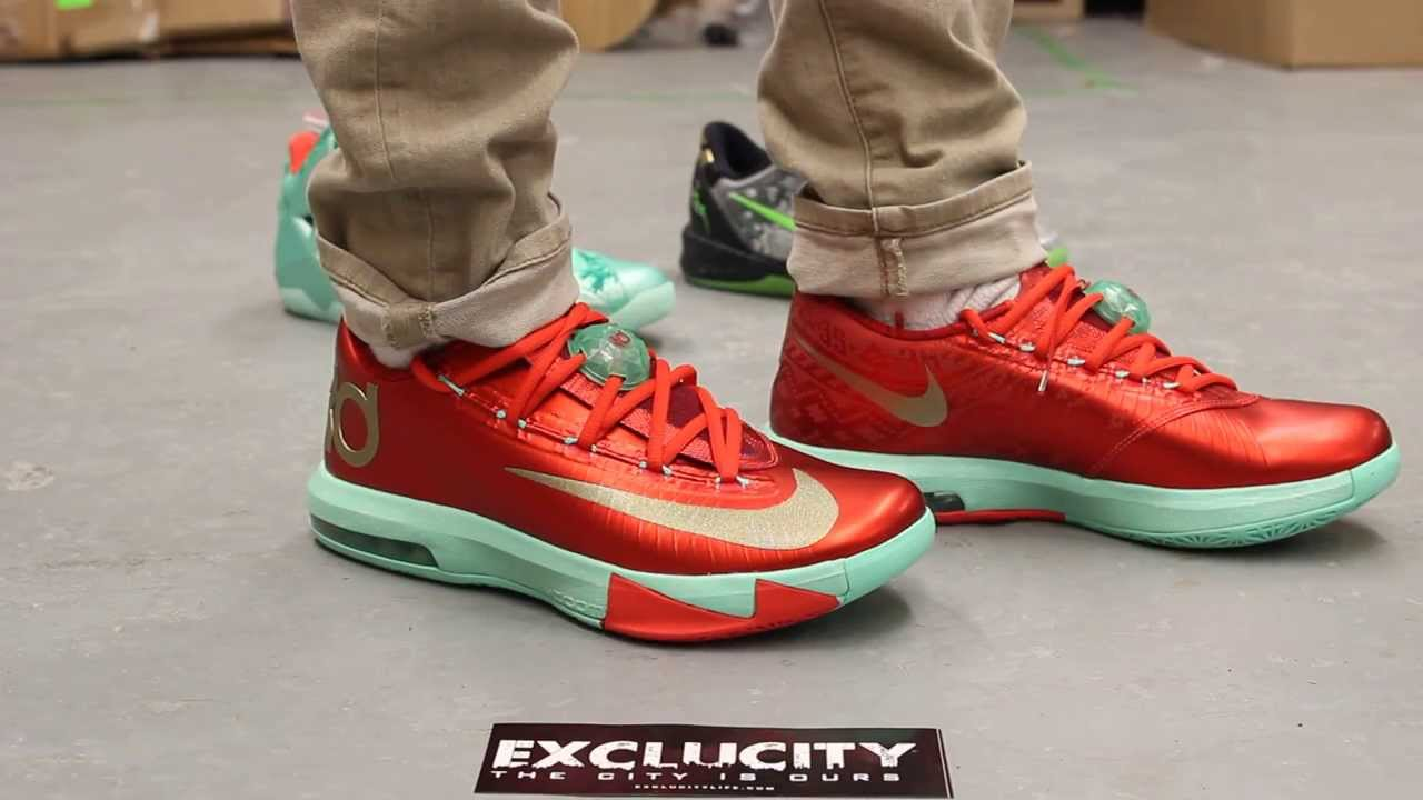 "Kd 5 Christmas On Feet KD VI ""Christmas&..."
