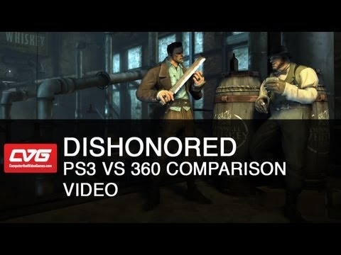Dishonored gameplay PS3 vs 360 Comparação