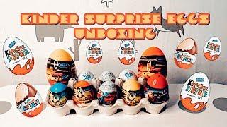 Unboxing kinder surprise eggs, ,распаковка кидер сюрпризов ,박스 안에 다양한 서프라이즈 에그와 킨더조이 알까기 놀이