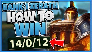 HOW TO 100% NEVER DIE ON XERATH FT. #1 XERATH WORLD (PERFECT KDA ALWAYS) - League of Legends