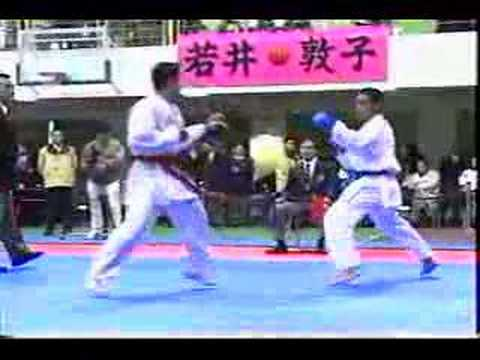 WKF Karate 2004 Hassan Rouhani Fights AKF Asian Championship