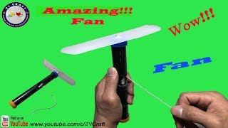 Wow!!! Amazing Fan - How To Make Fan - Tutorial for Kids/ Handcraft - DIY