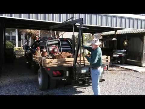 Homemade truck crane part 2