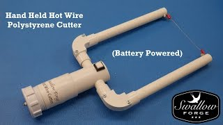 Hand Held Hot Wire Cutter for foam - Polystyrene -Battery Powered Styro slicer