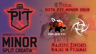 Majestic vs NiP | OGA Dota PIT Minor 2019