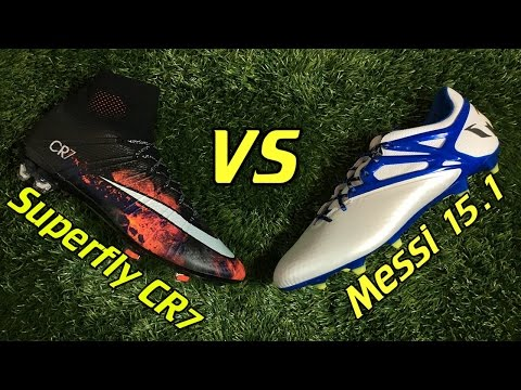 CR7 Nike Mercurial Superfly 4 vs Adidas Messi 15.1 - Comparison + Review