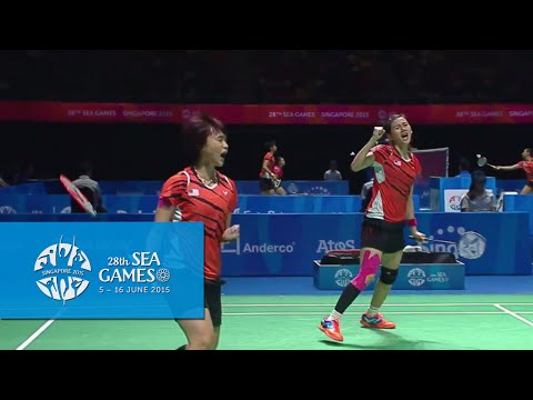 Badminton Mas vs Ina  (Day 10) | 28th SEA Games Singapore 2015