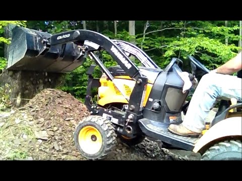DIY 4x4 Tractor Digging Up Marcellus Shale Deposit. Yanmar Flexes its Muscles
