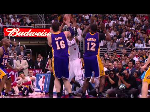 04 07 2013   Lakers vs  Clippers   Dwight Howard Blocks Caron Butler Dunk