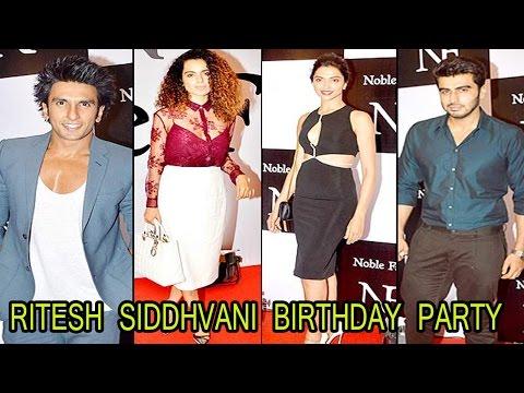Bollywood's Hot Girl & Celebs  Ritesh Sidhwani Birthday Bash !! video