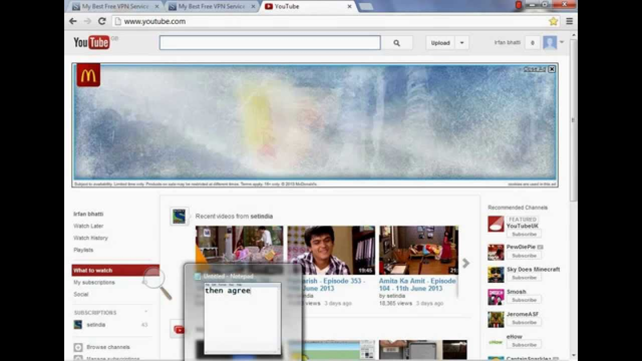 To open youtube in pakistan without proxy and software 2013 youtube
