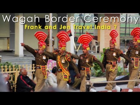 India & Pakistan Full Wagah Border Ceremony - Frank & Jen Travel India 7 video