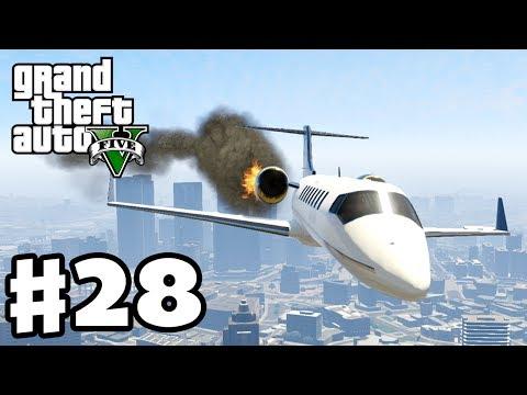 Grand Theft Auto 5 - Gameplay Walkthrough Part 28 - Plane Crash! (GTA 5, XBox 360, PS3)