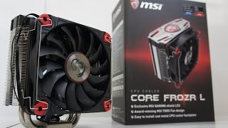 MSI Core Frozr L CPU Cooler Installation, i7 6700K OC and Test