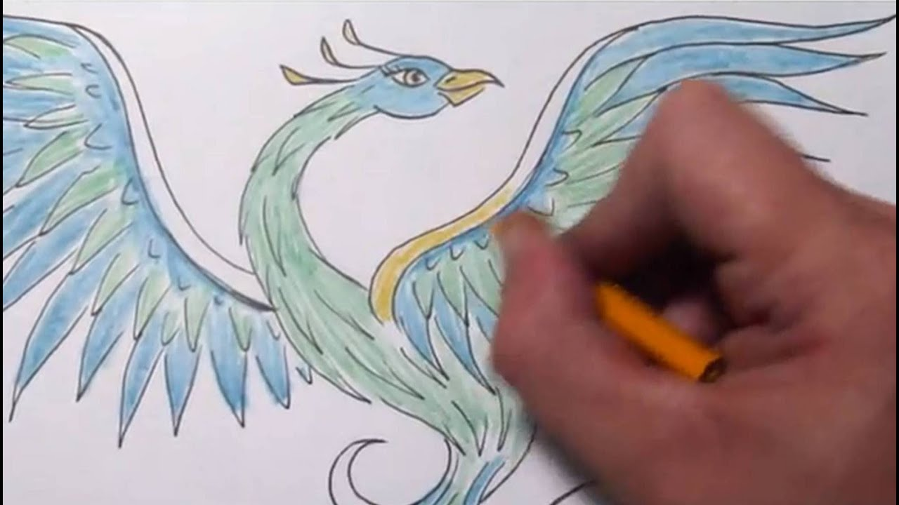 How To Draw A Phoenix Quick Sketch Youtube