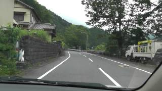 Driving Through The Mountains In Central Japan