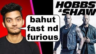 Hobbs and shaw review: kadak | Fast and furious presents hobbs and shaw movie review hindi
