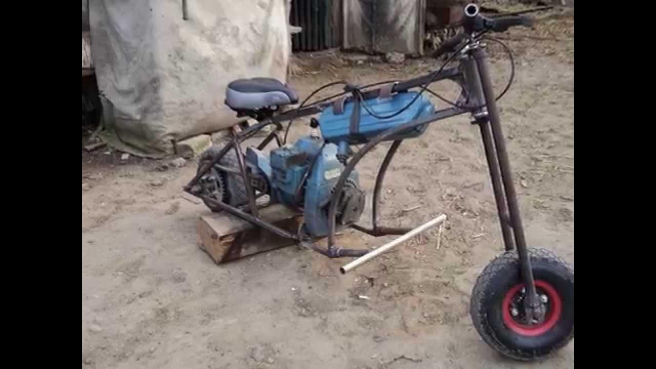 Трицикл из бензопилы дружба