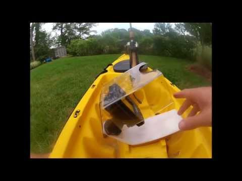 No drill kayak fish finder gps youtube for Fish finder on kayak