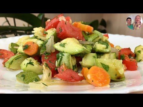 Летний Салат из Запеченных Овощей! Невероятно Вкусный и Полезный!