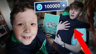 I SURPRISED my Little Brother with $500 on FORTNITE *HE NEARLY CRIED*