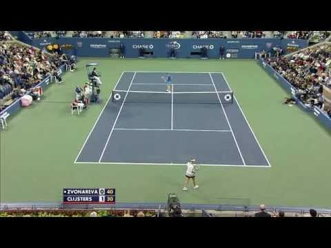 Kim Clijsters vs Vera Zvonareva - US Open 2010 (Quick Highlights)