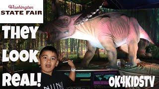 Washington State Fair 2018 - Discover The Dinosaurs Exhibit- Jurassic Tour Ok4kidstv video 195
