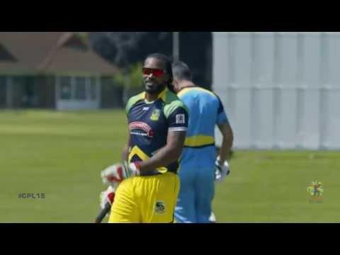 Drone Down: Chris Gayle vs Kevin Pietersen | #CPL15