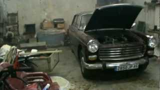 1975  Peugeot 404 old cold start (start up)