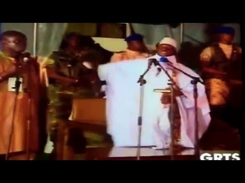 Yaya Jammeh in Farafenni May 17th, 2016 threatening the opposition parties
