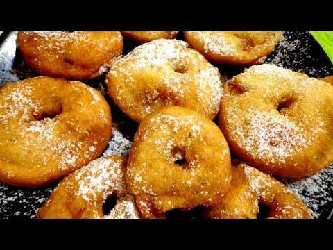"""Вкусный десерт """"Яблочки в кляре"""" жаренные во фритюре. Легко и просто."""