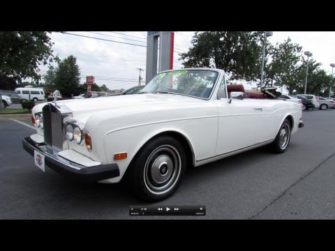 1979 Rolls Royce Corniche Convertible Start Up. Exhaust. and In Depth Review