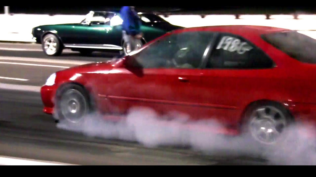turbo backfire honda civic    boost forced induction  quarter  mile race spool