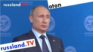 Putin's Rede zur Griechenlandkrise / deutsch synchronisiert